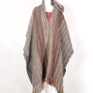 Jackets & Blazers - Beautiful handmade wool poncho with hood, O/S 🍁